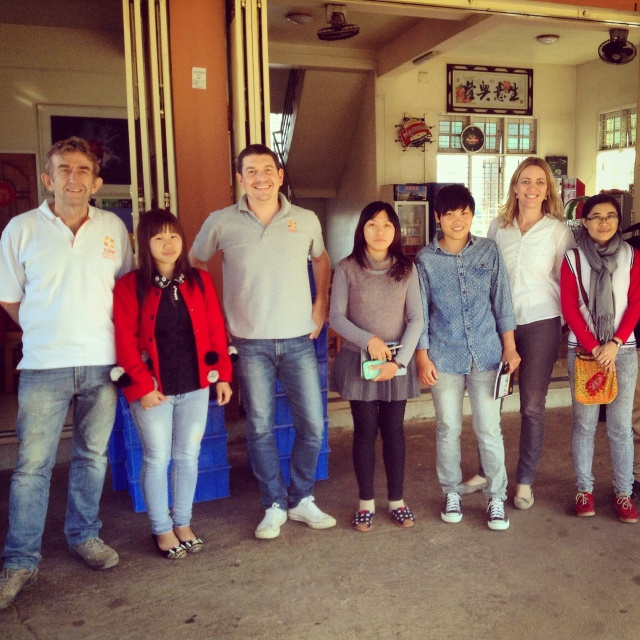 The CARE Myanmar team with their visitors